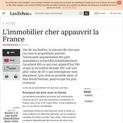 L'immobilier cher appauvrit la France
