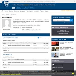 Rene BERTIN - Dirigeant de la société Groupe Bertin Immobilier - BFMBusiness.com