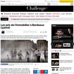 Les prix de l'immobilier à Bordeaux (33000)