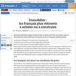 Immobilier : Immobilier : les Français plus réticent