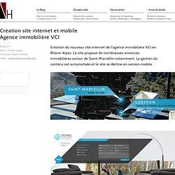 Création site internet agence immobilière.