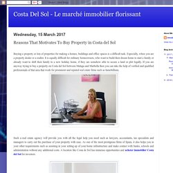 Costa Del Sol - Le marché immobilier florissant: Reasons That Motivates To Buy Property in Costa del Sol