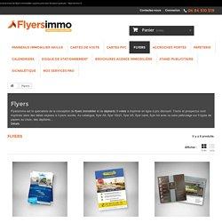 Grand choix de flyers immobilier à petits prix avec livraison gratuite - Flyersimmo.fr