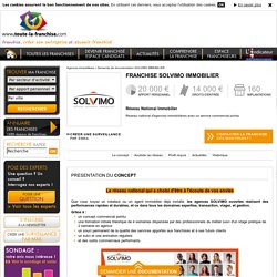 Franchise Solvimo immobilier - Réseau National Immobilier - Franchise Agences immobilières