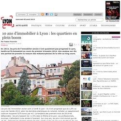 10 ans d'immobilier à Lyon : les quartiers en plein boom