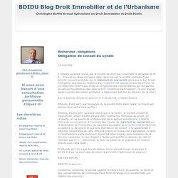 Blog Droit Immobilier et de l'Urbanisme : Rechercher - obligations