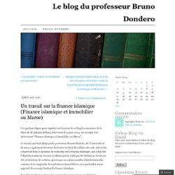 Un travail sur la finance islamique (Finance islamique et immobilier au Maroc)