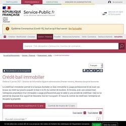 Crédit-bail immobilier - professionnels