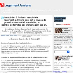 Immobilier Amiens 80 Logement statistiques et march