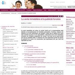 La vente immobilière et la publicité foncière (Notions-Cles.Laventeimmobiliereetlapublicitefonciere) - CNFPT