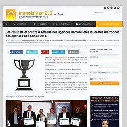 Les résultats et chiffre d'Affaires des agences immobilières lauréates du trophée des agences de l'année 2014.