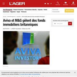 Aviva et M&G gèlent des fonds immobiliers britanniques - Actualités Asset Management