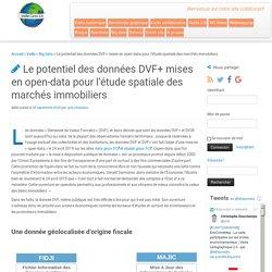 Le potentiel des données DVF+ mises en open-data pour l'étude spatiale des marchés immobiliers
