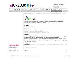 Projets immobiliers des Français : 3ème baromètre ORPI-CREDOC Co