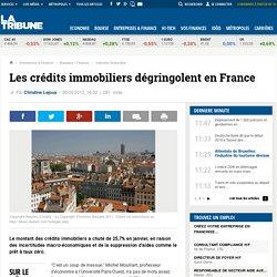 Les crédits immobiliers dégringolent en France