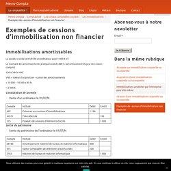 Exemples de cessions d'immobilisation non financier