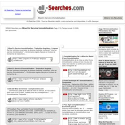 Mise En Service Immobilisation : Page 1/10 : All-Searches.com