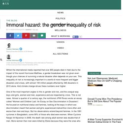 Immoral hazard: the gender inequality of risk