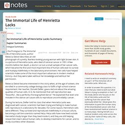 The Immortal Life of Henrietta Lacks Summary - Rebecca Skloot