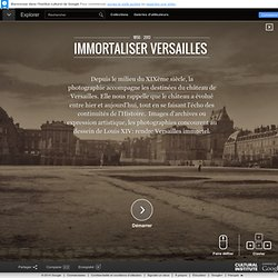 Immortaliser Versailles  - Institut culturel de Google