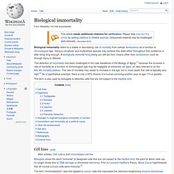 Biological immortality