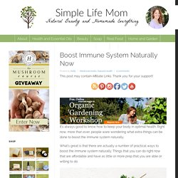 Boost Immune System Naturally Now