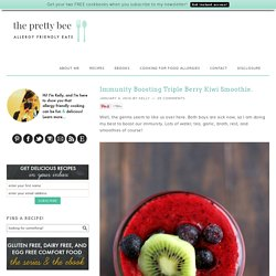 Immunity Boosting Triple Berry Kiwi Smoothie.