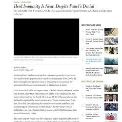 Herd Immunity Is Near, Despite Fauci's Denial