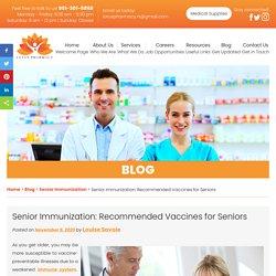 Senior Immunization: Recommended Vaccines for Seniors