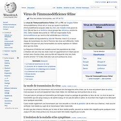 WIKIPEDIA - Virus de l'immunodéficience féline