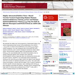 Highly Attenuated Rabies Virus—Based Vaccine Vectors Expressing Simian-Human Immunodeficiency Virus89.6P Env and Simian Immunodeficiency Virusmac239 Gag Are Safe in Rhesus Macaques and Protect from an AIDS-Like Disease