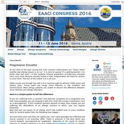 EUROPEAN ACADEMY OF ALLERGY & CLINICAL IMMUNOLOGY: Progressive Sinusitis