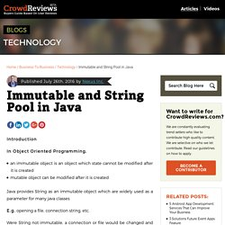 Immutable and String Pool in Java - CrowdReviews.com Blog