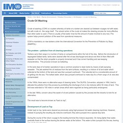 IMO: Crude Oil Washing