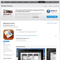 iMockups for iPad for iPad on the iTunes App Store