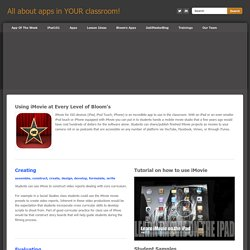 iMovie - All about apps in YOUR classroom!
