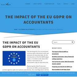 The Impact of EU GDPR on Accountants. What to do to become compliant?