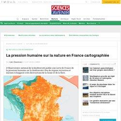 La carte de l'impact des activités humaines sur la France