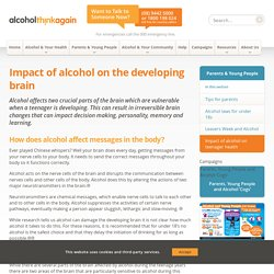 Impact of alcohol on the developing brain