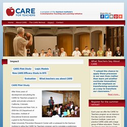 Impact - CARE for Teachers