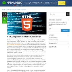 Impact of HTML5 on PSD to HTML Conversion Services