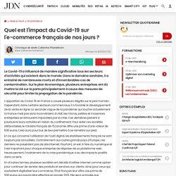 Quel est l'impact du Covid-19sur l'e-commerce françaisde nos jours?