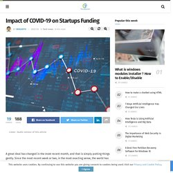 Impact of COVID-19 on Startups Funding