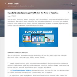 Impact of Digitized Learning оn the Modern-Day World оf Tеасhing