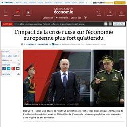 L'impact de la crise russe sur l'économie européenne plus fort qu'attendu