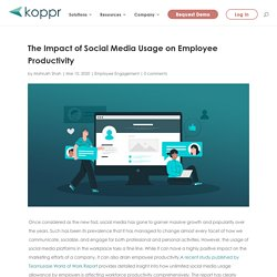 The Impact of Social Media Usage on Employee Productivity
