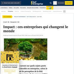 Impact : ces entreprises qui changent le monde