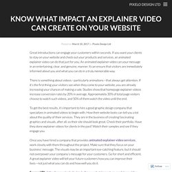 Know What Impact an Explainer Video Can Create On Your Website