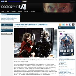 The Impact of Genesis of the Daleks