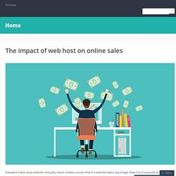 The impact of web host on online sales